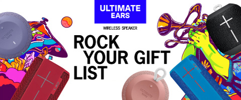 Rock your gift list with Ultimate Ears bluetooth speakers!