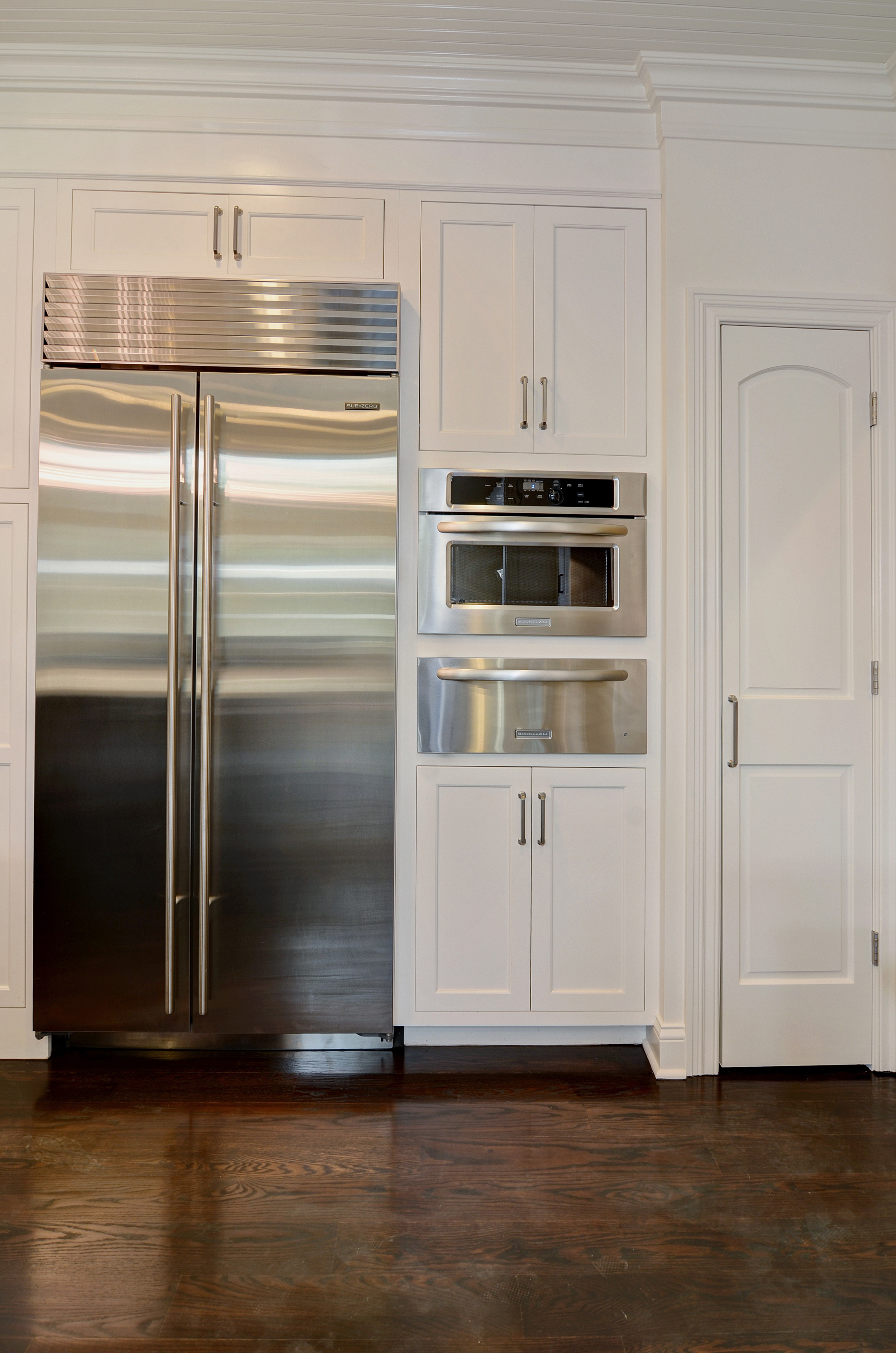 Rite-Way Kitchen Refrigerator, Built-In Microwave, and Warming Drawer
