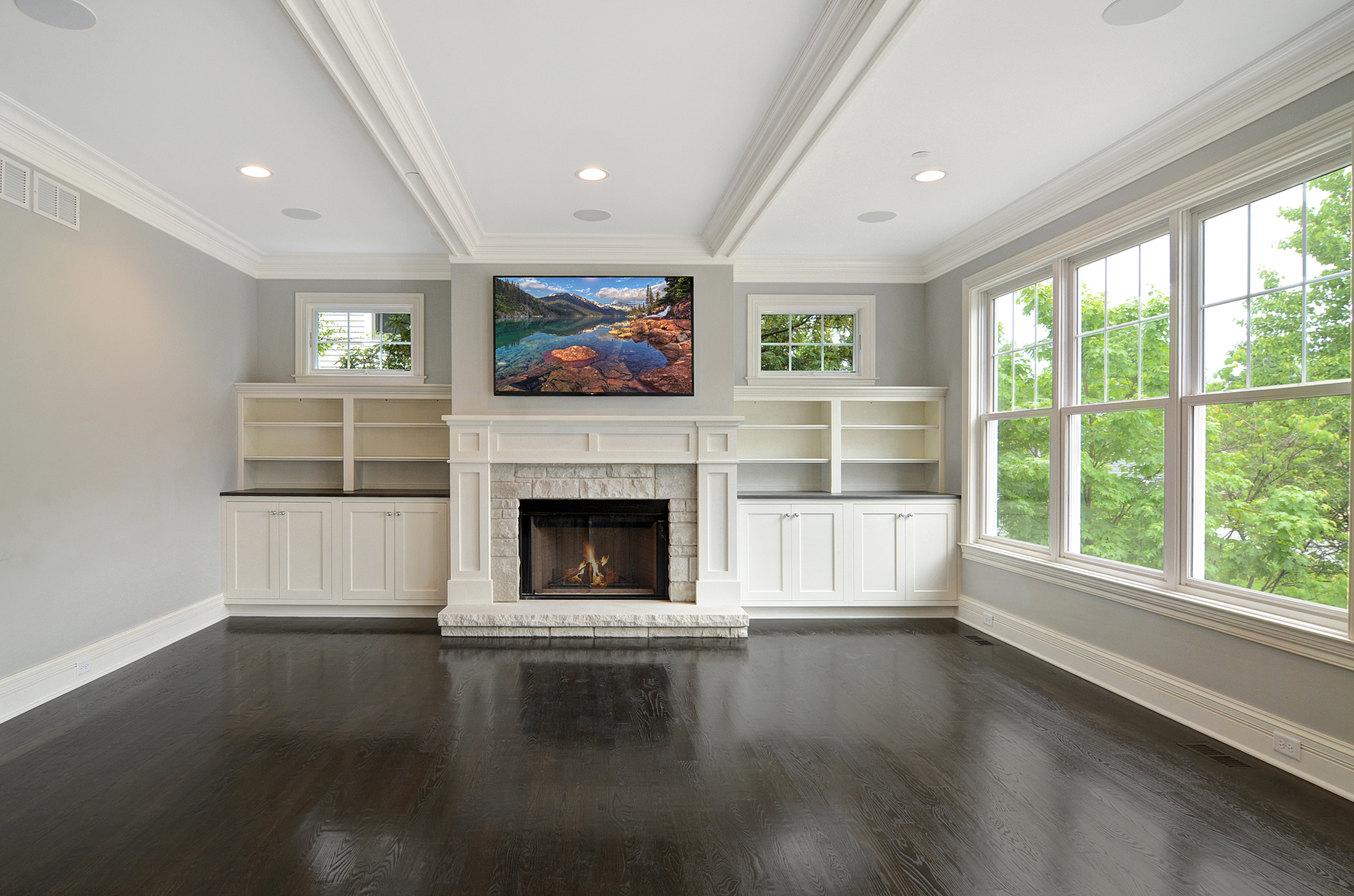 Rite-Way Family Room with Entertainment System