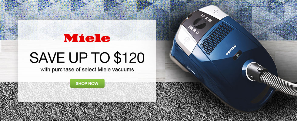 Save Up To $120 With Purchase Of Select Miele Vacuums