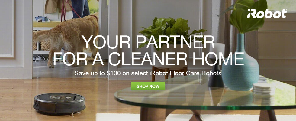 Save Up To $100 On Select iRobot Vacuum Cleaning Robots