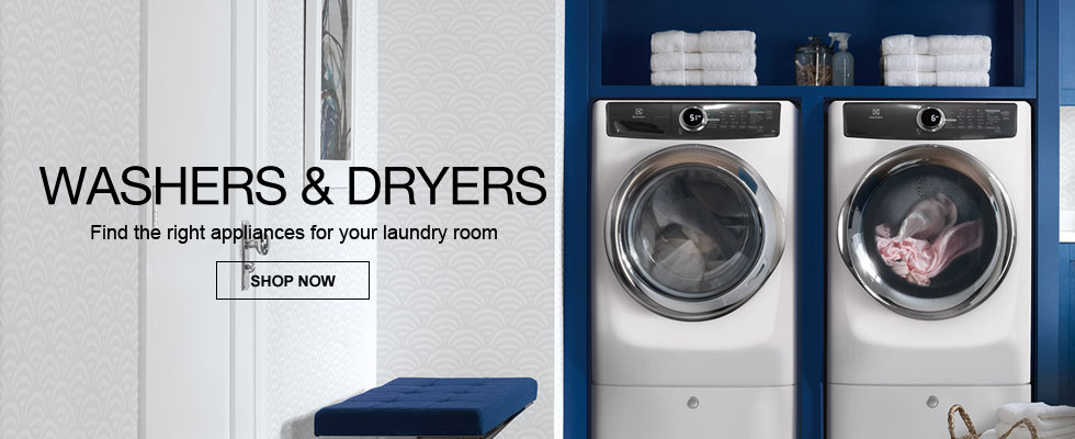 Washers & Dryers - Find The Right Appliances For Your Laundry Room
