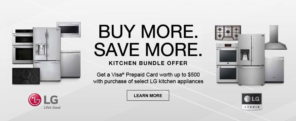 Buy More. Save More. LG Kitchen Bundle Offer
