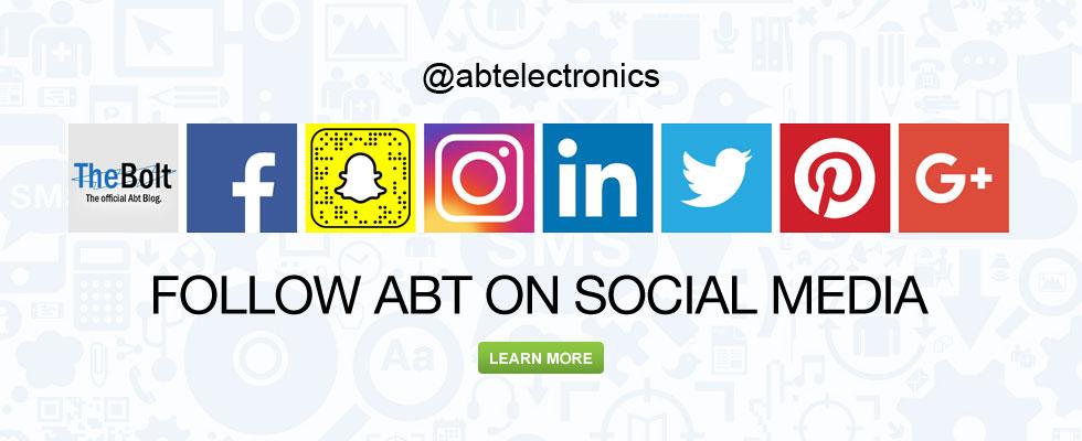 Follow Abt On Social Media @abtelectronics