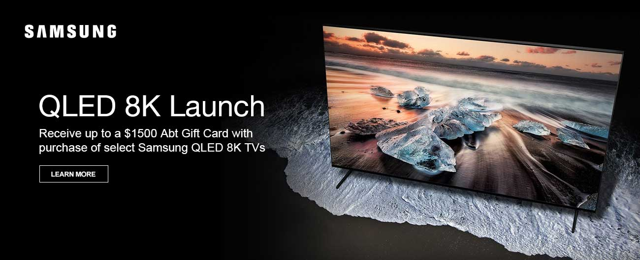 Receive Up To a $1500 Abt Gift Card With Purchase Of Select Samsung QLED TVs