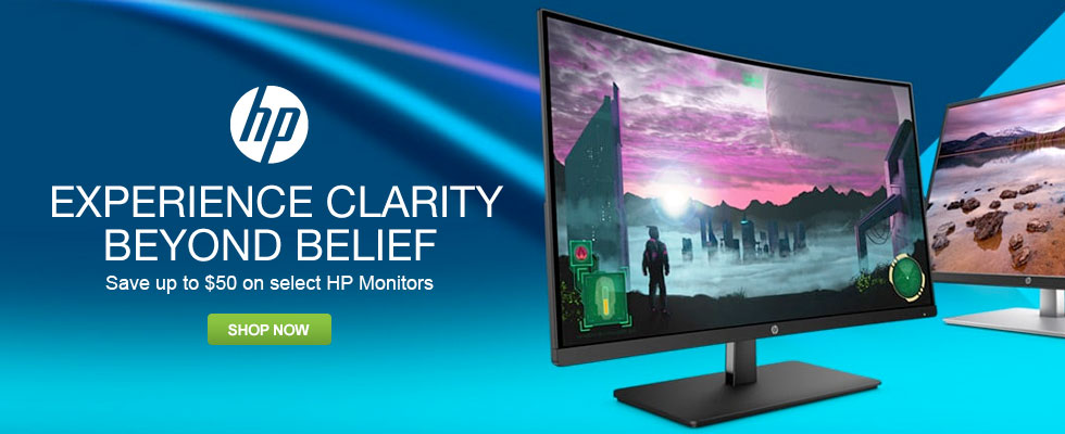 Save Up To $50 On Select HP Monitors