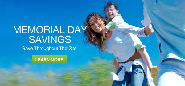 Memorial Day Savings - Save Throughout the Site