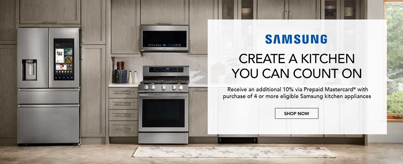 Save An Additional 10% With Purchase Of Select Samsung Kitchen Appliance Packages