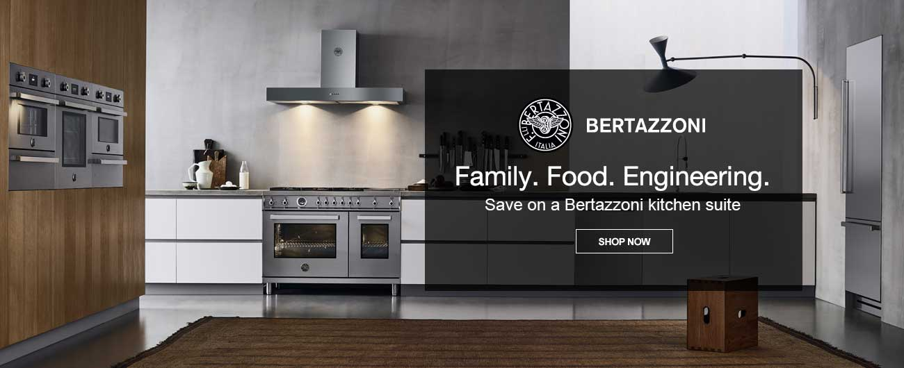Save on Bertazzoni Kitchen Appliance Packages - Family. Food. Engineering.
