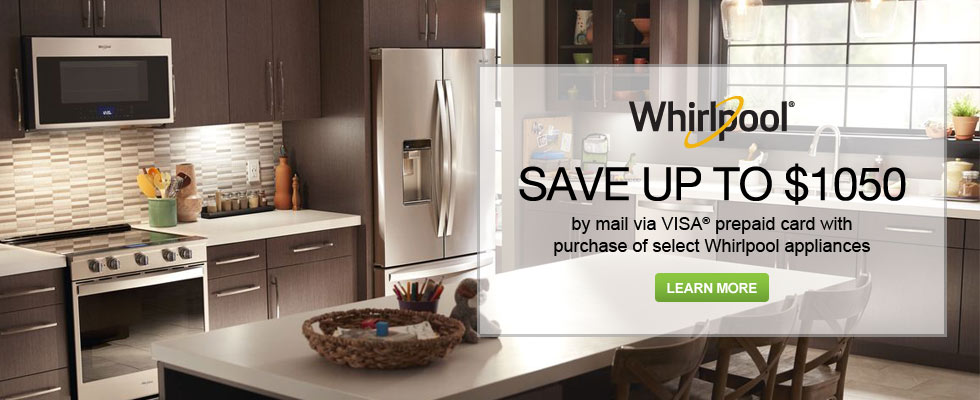 Save Up To $1050 On Select Whirlpool Appliances