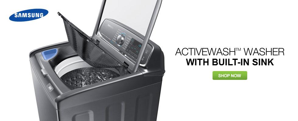 Samsung ActiveWash Washer With Built-In Sink