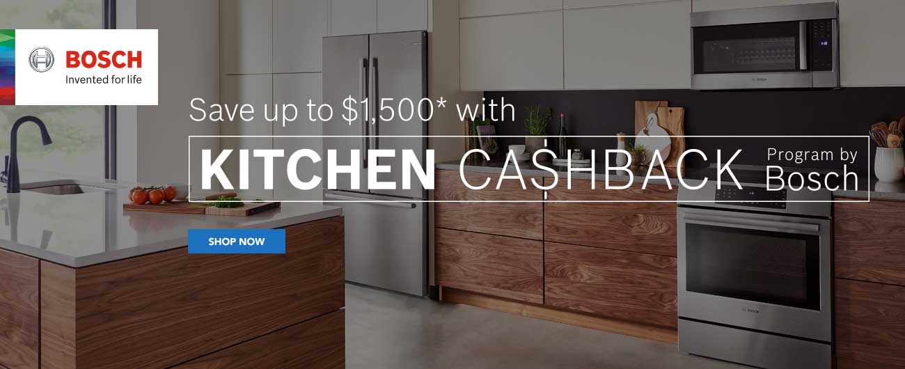 Save Up To $1500 With Kitchen Cashback Program By Bosch