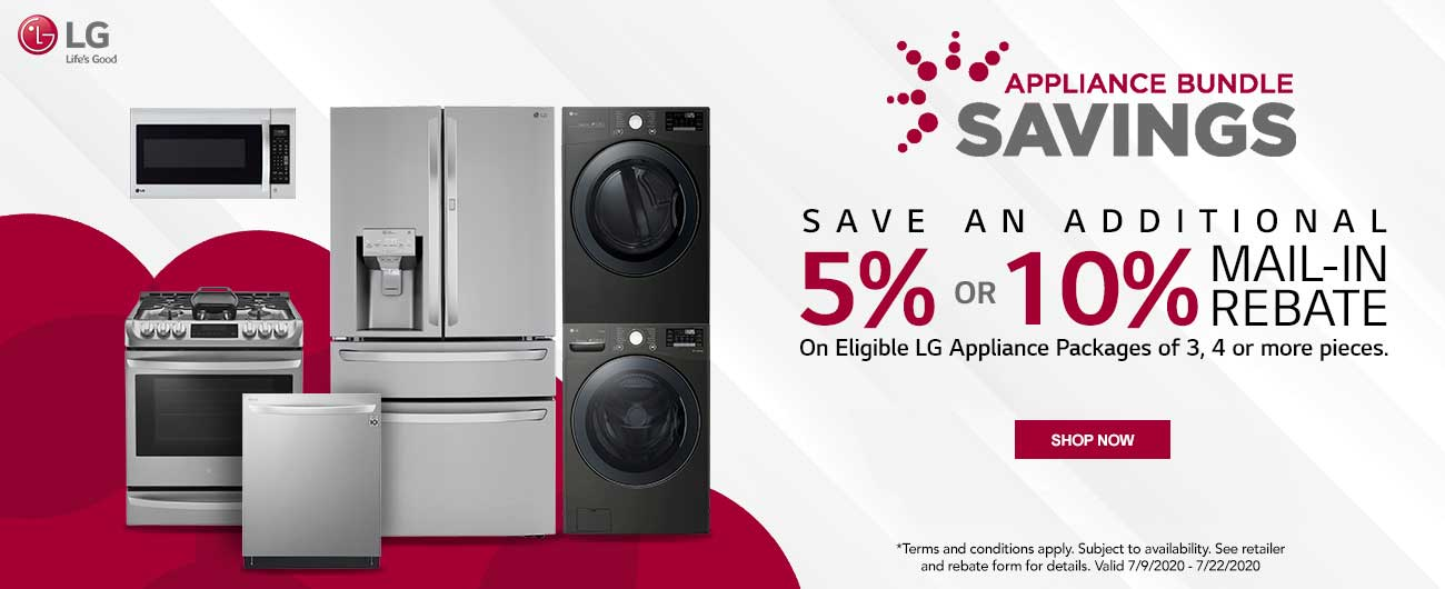 Save Up To An Additional 10% On Select LG Appliance Packages