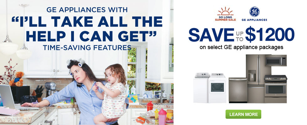 Save Up To $1200 With Purchase Of Select GE Appliances