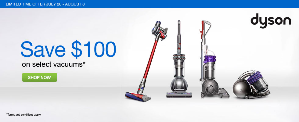Save $100 on Select Dyson Vacuums