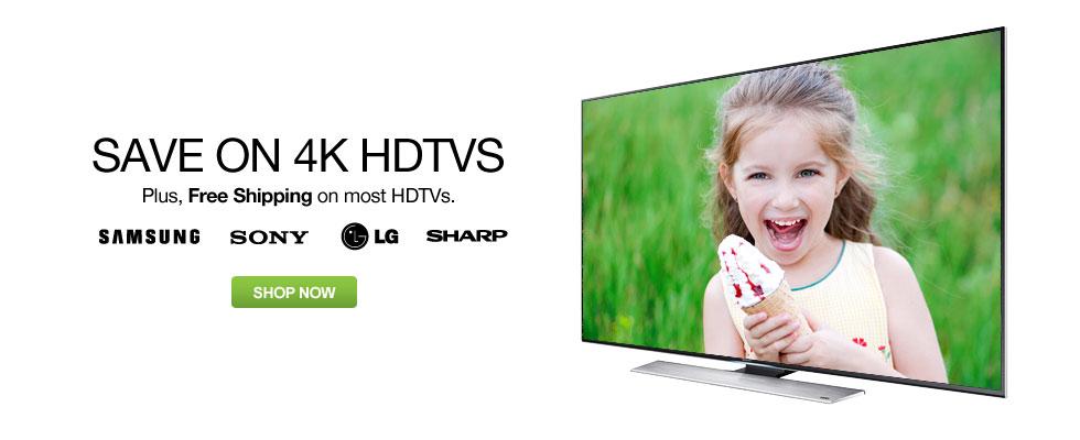 Save on 4K HDTVs