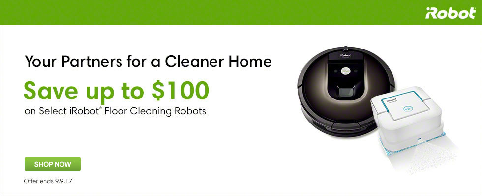 Save Up To $100 On Select iRobot Floor Cleaning Robots