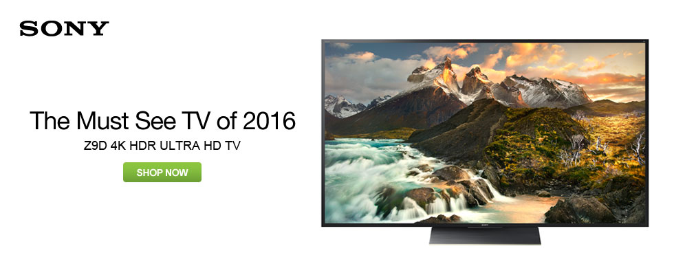 Sony Z9D 4K HDR Ultra HD TV - The Must See TV of 2016