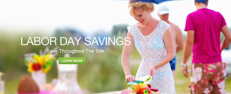 Labor Day Savings - Save Throughout the Site