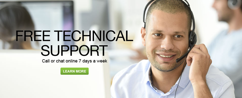 Free Technical Support - Call Or Chat Online 7 Days A Week