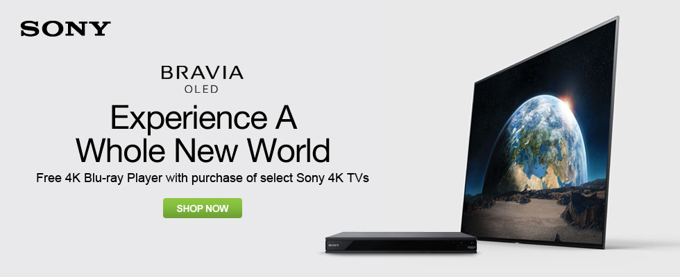 Free 4K Blu-ray Player With Purchase Of Select Sony 4K TVs