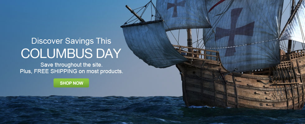 Columbus Day Sale - Save Throughout The Site