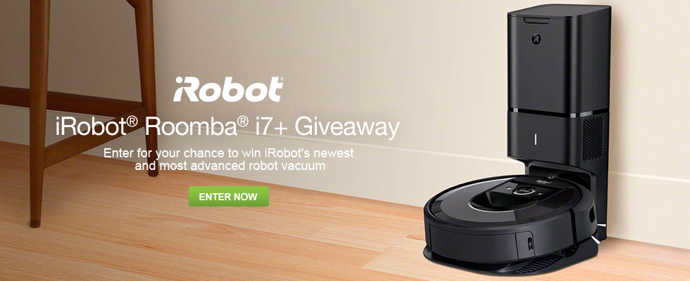 Enter To Win an iRobot Roomba i7+ Robotic Vacuum
