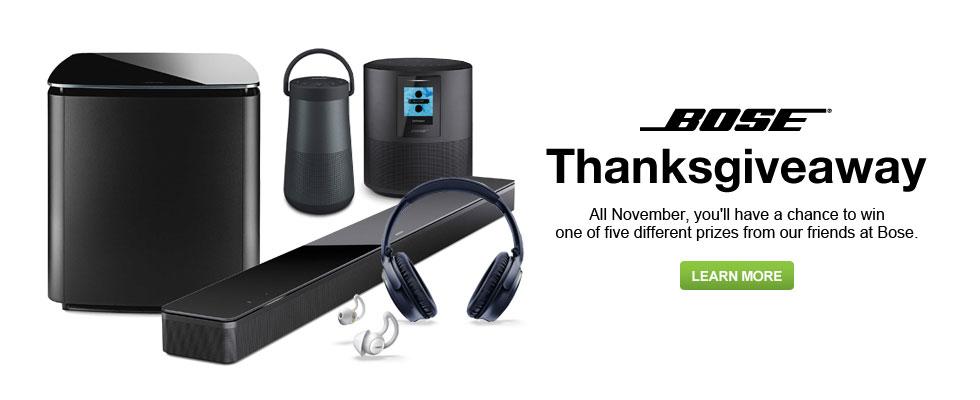 Bose Thanksgiveaway