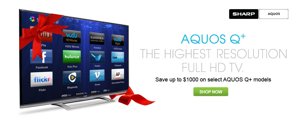 Sharp AQUOS Q+ The Highest Resolution Full HD TV