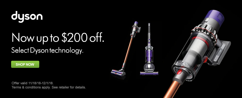 Save Up To $200 On Select Dyson Technology