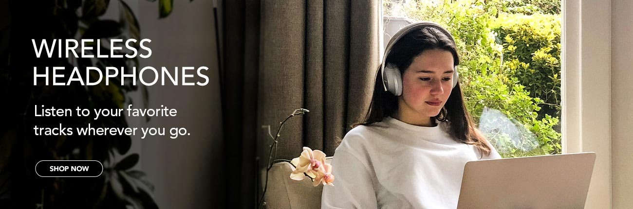 Wireless Headphones - Listen to your favorite tracks wherever you go.
