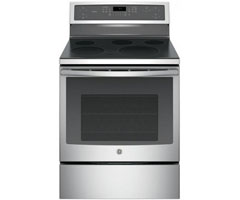 GE Profile 30 Inch Freestanding Stainless Steel Electric Convection Range