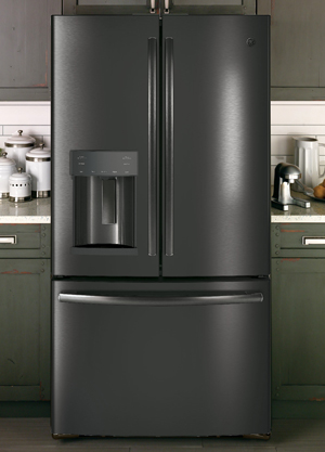 Ge Black Stainless Finish