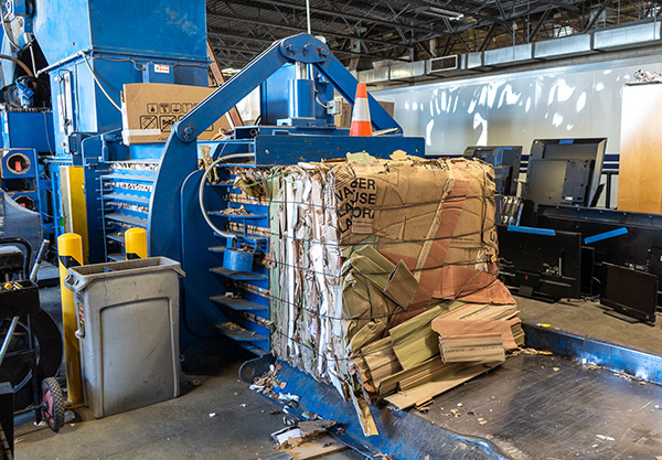 Abt's Recycling Center - Cardboard getting recycled