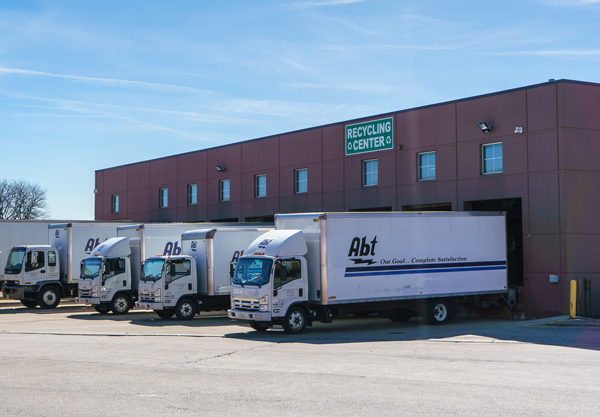 Abt's Recycling Center with Trucks in the Docks