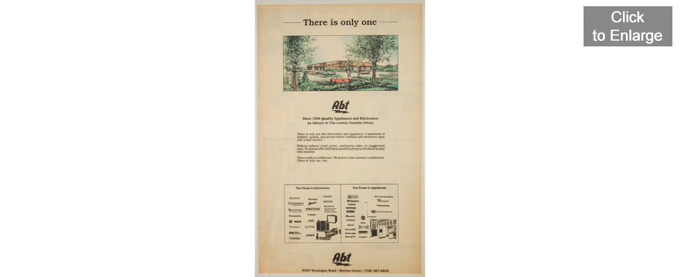 Abt Electronics & Appliance - 1990 - Advertisement