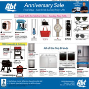 Abt's Chicago Sun-Times Ad - Anniversary Sale - Final Days - 05/09