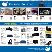 Abt's Chicago Sun-Times Ad - Memorial Day Savings - 05/23