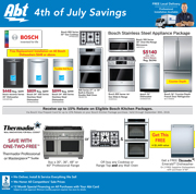 Abt's Chicago Sun-Times Ad - 4th Of July Savings - 07/04