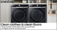 Samsung Free Jetbot Mop Laundry Promo