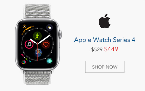 Apple Watch Series 4 - Was $529, Now $449. Shop Now