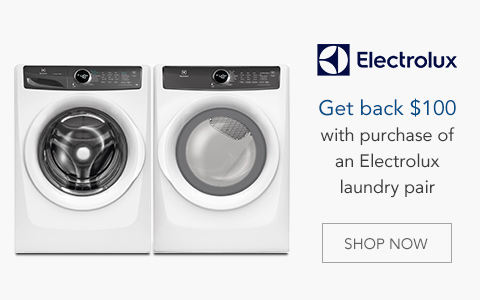 Get back $100 with purchase of an Electrolux laundry pair. Now through 7/10. Learn More.