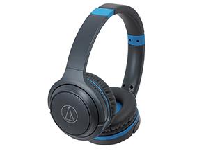 Audio-Technica Gray Blue Wireless On-Ear Headphones