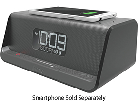 iHome Gunmetal NFC Bluetooth Stereo Dual Alarm Clock