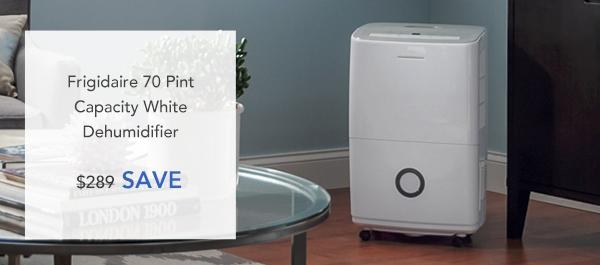 Frigidaire 70 Pint Capacity White Dehumidifier - Save