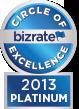 Bizrate - 2013 Platinum Circle of Excellence