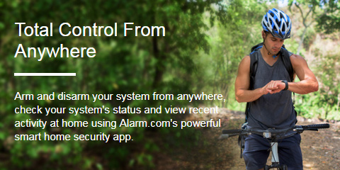 Total Control From Anywhere - Arm and disarm your system from anywhere