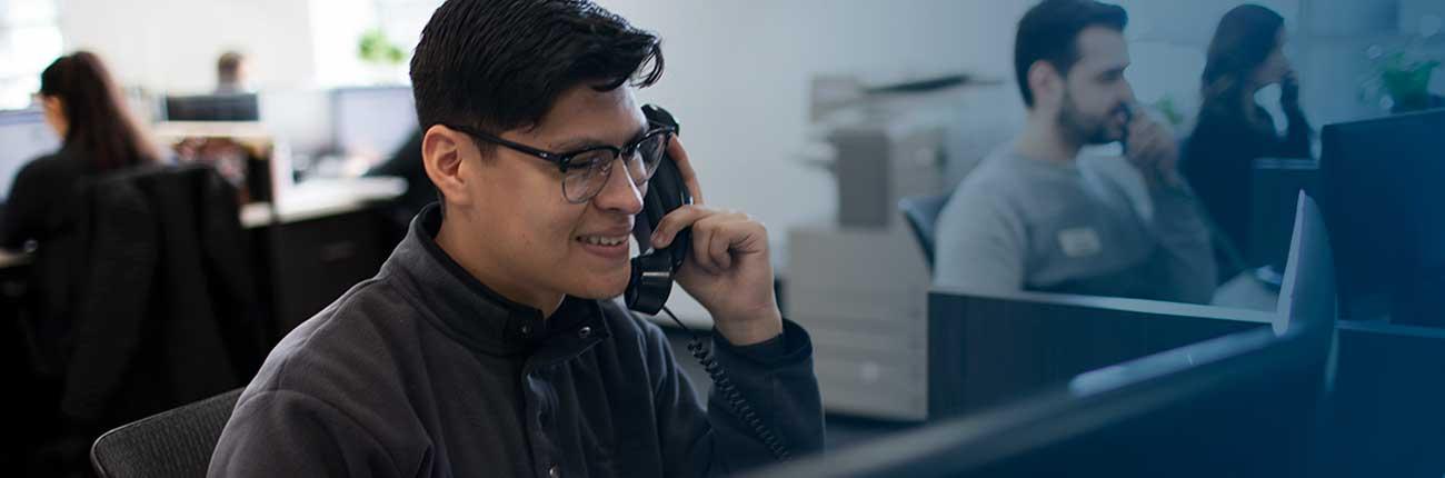 Abt customer service representative on the phone