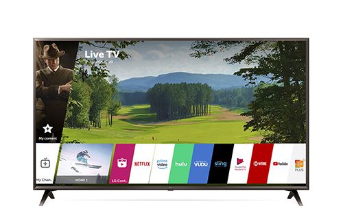 LG 55 Inch Black UHD 4K HDR Smart LED AI With ThinQ - 55UK6300PUE