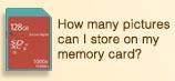 Memory Card Capacity Chart